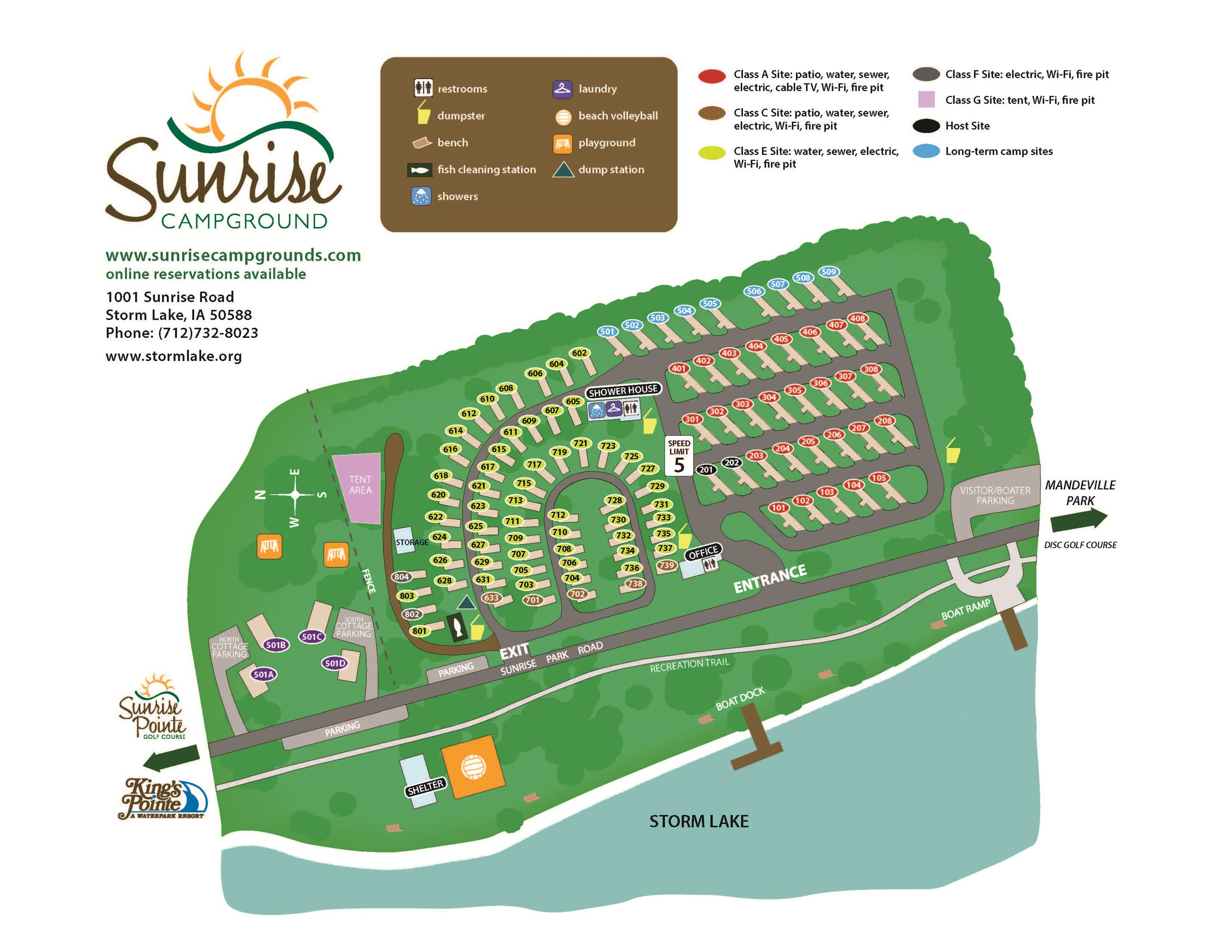 Sunrise Campground Map 2019
