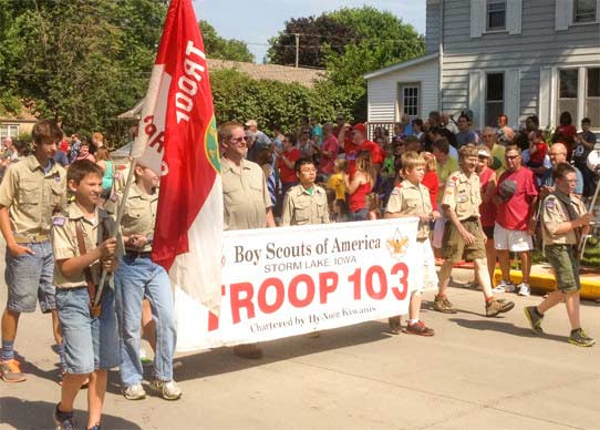 Local Boy Scouts during the 4th of July Parade